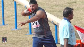 JUNIOR MENS Shot Put  Final.  13th NATIONAL FEDERATION CUP Jr. ATHLETICS CHAMPIONSHIPS-2015