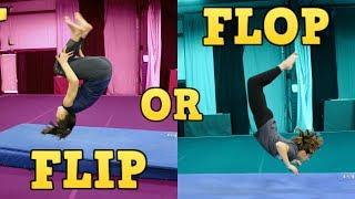 Gymnastics FLIP or FLOP Game (Play Along!)