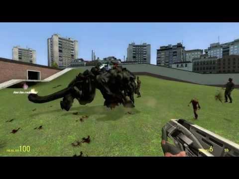 Gmod:Amnisia Monsters vs Graunder (Doom3)