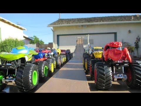 Mtdh01 Monster Truck Downhill Racing walker Invitational video