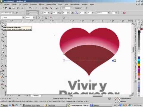 Vectorización manual de un logotipo en Corel Draw.wmv