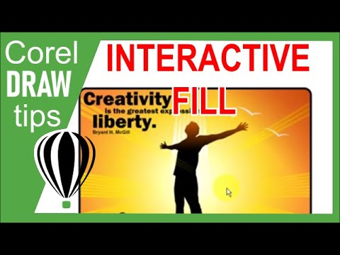Using the Interactive Fill tool in CorelDraw