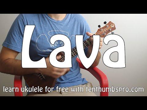 Pixar's Lava - Ukulele Tutorial - How To Play Easy Beginner Ukulele Songs