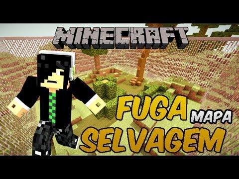 Minecraft Mapas - FUGA SELVAGEM - Fugindo com estilo =D