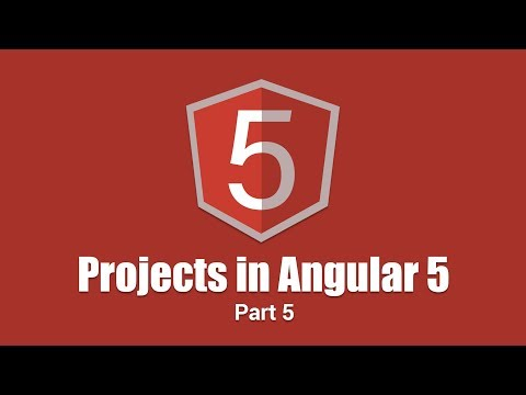 Projects in Angular 5 | Authentication With Google Firebase | Part 5 | Eduonix
