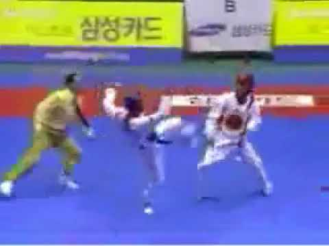 espectacular demostracion de tae kwon do