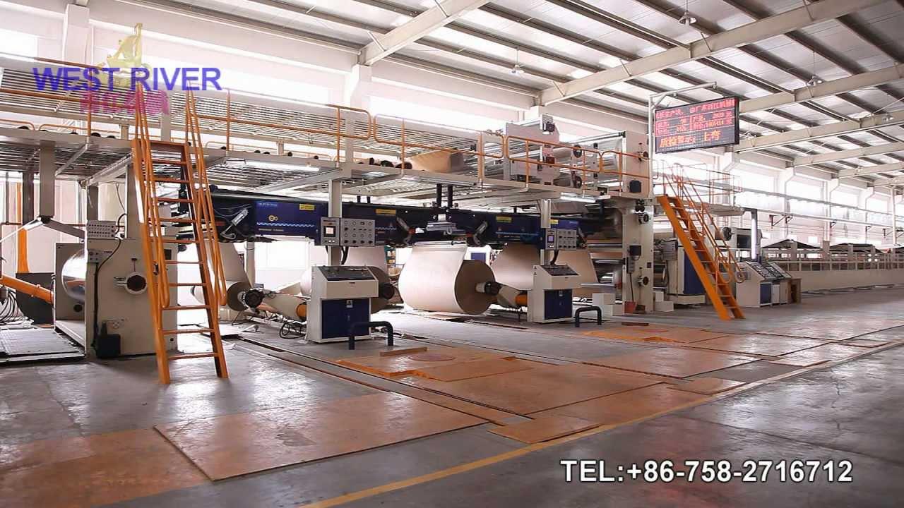 china newst 2500mm corrugated cardboard production linea