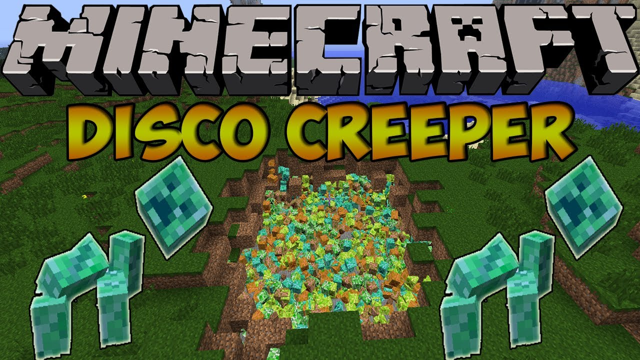 Minecraft Creeper Mod Minecraft Mods Disco Creeper
