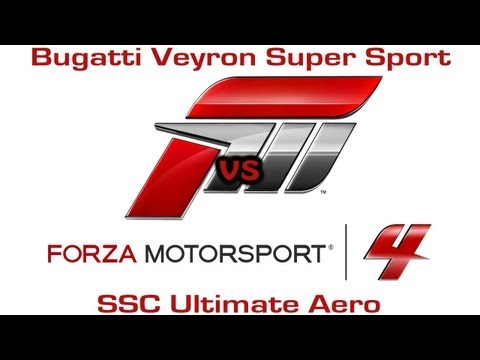 Forza Motorsport 4 – Bugatti Veyron Super Sport vs SSC Ultimate Aero – Drag Race