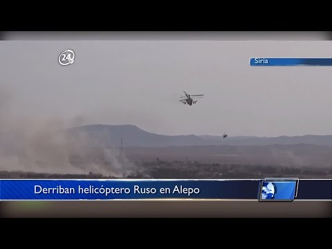 Global: Derriban helicóptero Ruso en Alepo