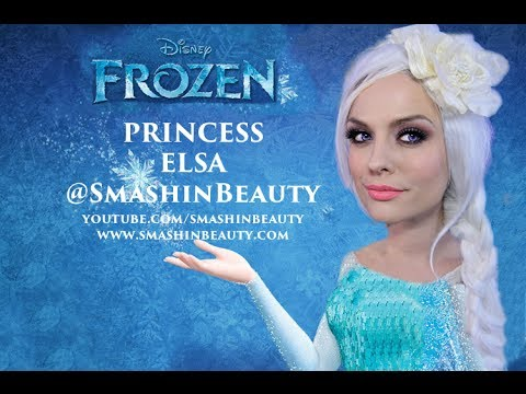 Disney Frozen 2016 Princess Elsa Makeup Tutorial (Ice Queen) Halloween Makeup    SMASHINBEAUTY