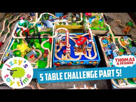 Thomas and Friends | 5 TABLE CHALLENGE PART 5! Fun Toy Thomas Trains for Kids and Children with Brio
