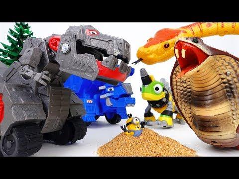 Trux It Up~! Battle Armor Up Ty Rux Defeat Giant Cobra