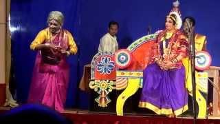 Yakshagana -- Vamsha vahini -- Seetharam kumar kateel as Bakule - hasya