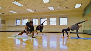 Notre Dame Defensive Linemen Try Yoga | A SEASON WITH NOTRE DAME FOOTBALL Preview