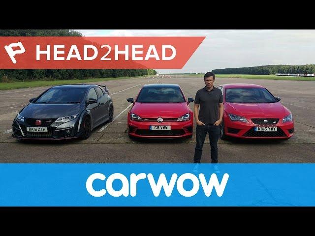 VW Golf GTI Clubsport vs Seat Leon Cupra 290 vs Honda ...