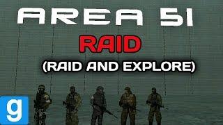 [Garry's mod] RAIDING THE AREA 51 AND EXPLORE IT #area51raid