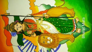 Republic day / Independence day special painting of Bharat Mata