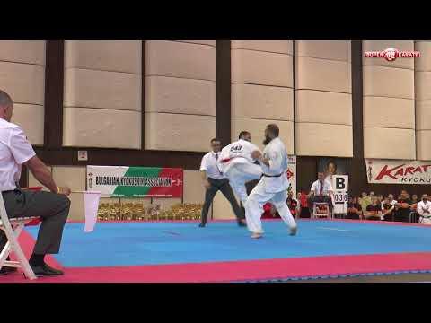 Alejandro Navarro vs. Goderzi Kapanadze. 32 European Weight Category Karate Championships