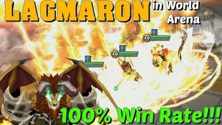 Summoners War - Lagmaron 100% Win Rate in World Arena!!!