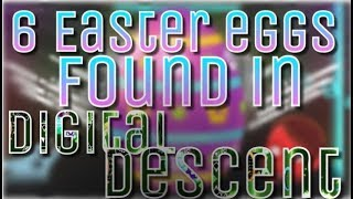 6 Easter Eggs Found In Digital Descent - Geometry Dash