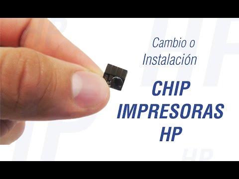Instalación de chip en Impresoras Hewlett Packard