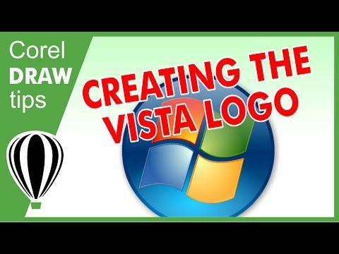 Creating Vista Logo in CorelDraw