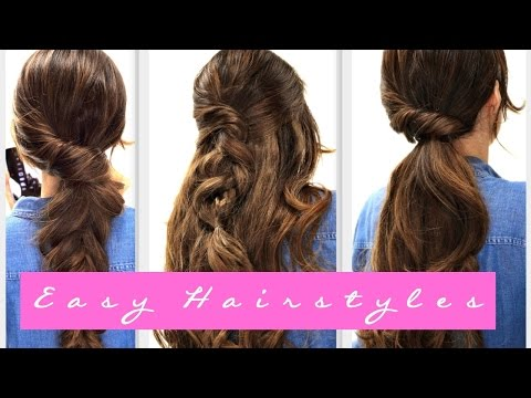 4 EASY Lazy HAIRSTYLES for WINTER Everyday Hairstyle for Medium + LONG HAIR