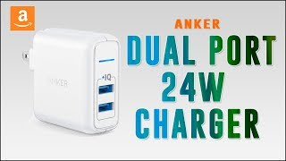Amazon #1 Anker Elite Dual Port 24W USB Travel Wall Charger