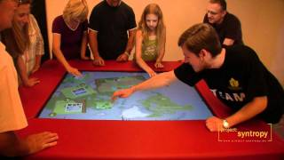 Multitouch Picture Puzzle Gaming Table