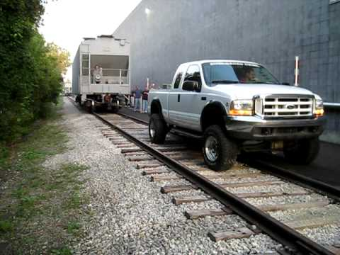 12 V Cummins in 01 Superduty Tows rail car. We had to move a car on our spur at work so what better than CUMMINS POWER!