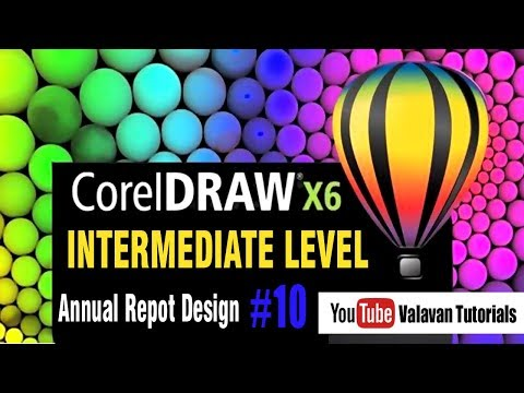 Annual Report Design | Corel Draw tutorial for Intermediate level | கோரல்டிரா x6 #10