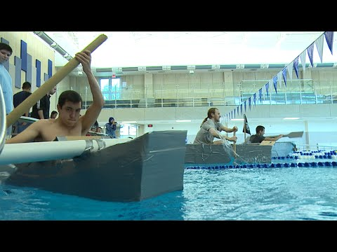 College of DuPage: Engineering Club Cardboard Boat Relay Race