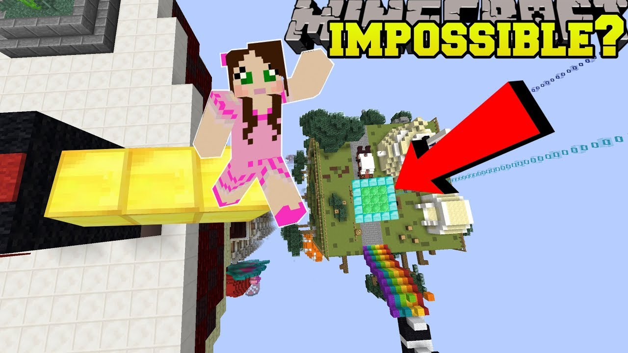 Minecraft: IS THIS JUMP EVEN POSSIBLE?!? - POPULARMMOS WORLD [9]