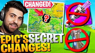 Every SECRET Patch Change Epic DIDN'T Want You To Know! (Fortnite Battle Royale)