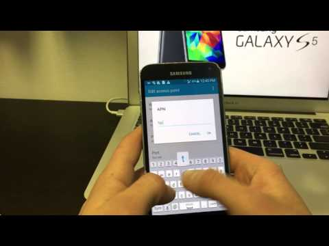 Samsung Galaxy S5 Change APN Settings MetroPCS MMS. 4G LTE Data and Picture Messages