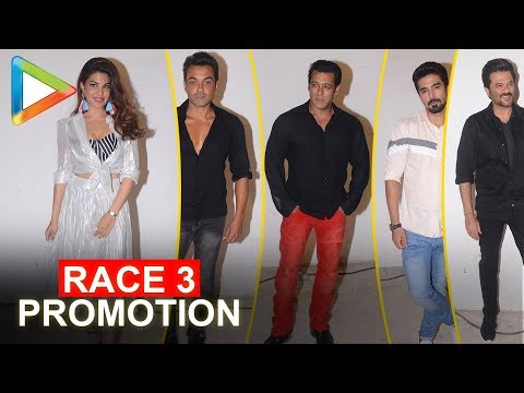Salman Khan, Jacqueline Fernandez, Daisy Shah, Bobby Deol & Anil Kapoor PROMOTE Race 3