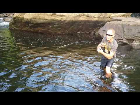 Todd fishing Pigeon river