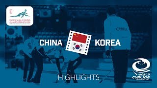 HIGHLIGHTS: China v Korea - Men - Semi-final - Pacific-Asia Curling Championships 2018