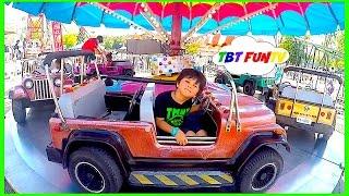 OUTDOOR AMUSEMENT PARK FUN Compilation GIANT Slides Car Ride Kids Video