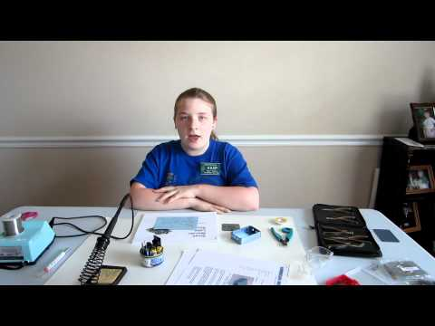Kaitlyn KS3P builds a Small Wonder Labs Rockmite 20 QRP transceiver.  Part 1