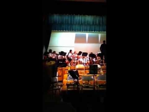 Terrill Middle School 5th grade Band playing Robin Hood and the Golden Arrow