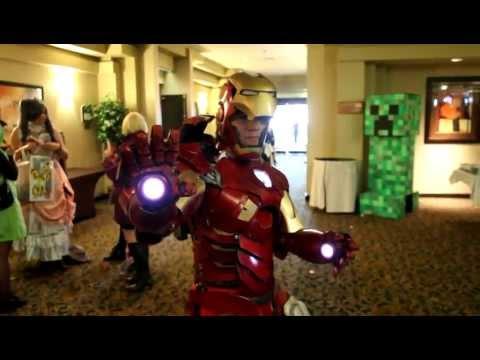 Un traje cosplay de Iron Man con partes que funcionan de verdad