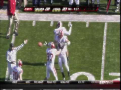 2009 Iowa Hawkeye Football Highlights: Iowa vs Indiana 2 Video