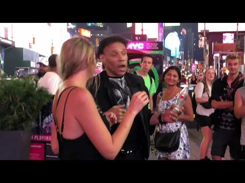 times square nyc magician bottle trick