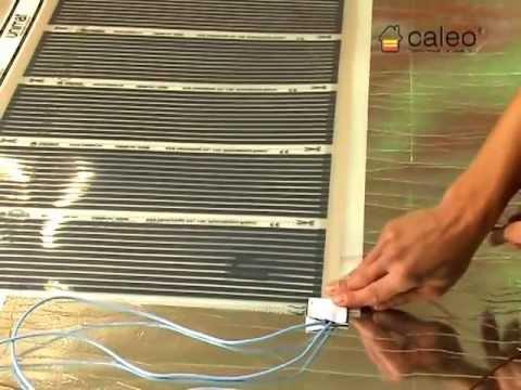 Монтаж теплого пола Caleo под ламинат и линолеум