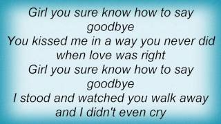 Watch Tom T Hall Girl You Sure Know How To Say Goodbye video