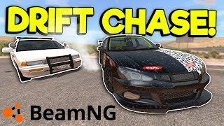 DRIFT POLICE CHASE & NEW DESERT MAP! - BeamNG Gameplay & Crashes - Cop Chases