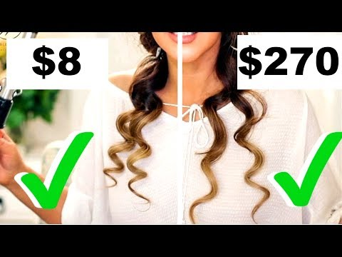 $8 CURLING IRON CURLS Vs.  $270 CURLING IRON CURLS TESTED 👍🏽    Hairstyles