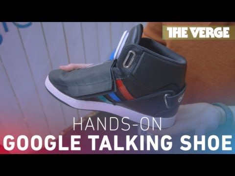Google makes a talking shoe